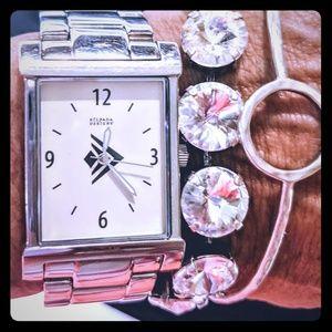 "Silpada ""boyfriend"" watch. Stainless Steel T1650"